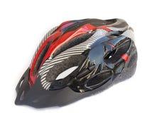Red - black bicycle helmet royalty free illustration