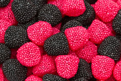 Red and black blackberries candy Royalty Free Stock Images
