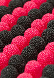 Red and black blackberries candy Royalty Free Stock Photos