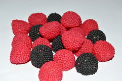 Red and black blackberries candy Royalty Free Stock Photo