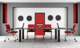Red and black boardroom Royalty Free Stock Photography