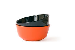 Red and black bowls Royalty Free Stock Image