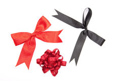 Red and black bows Stock Image