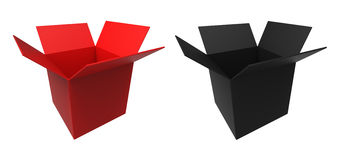 Red and black box Stock Photography