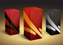 Red and black boxes Royalty Free Stock Images