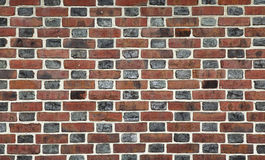 Red and Black brick wall background Stock Image
