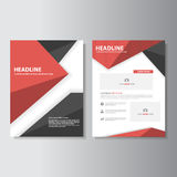 Red and black brochure flyer leaflet  Royalty Free Stock Images
