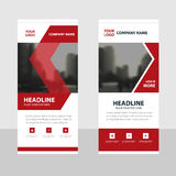 Red black Business Roll Up Banner flat design template ,Abstract Geometric banner template Vector illustration set Royalty Free Stock Photos