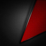 Red and black carbon fiber background. 3d illustration material design. racing style vector illustration