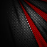 Red and black carbon fiber background. 3d illustration material design. racing style stock illustration