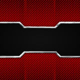 Red, black carbon fiber and chromium frame. Royalty Free Stock Images