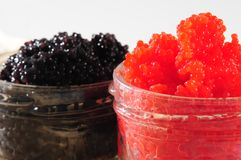 Red and black caviar Royalty Free Stock Photos