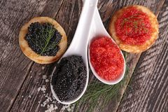 Red and black caviar Royalty Free Stock Image