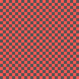 Red and black checkboard with mosaic cells Stock Photography
