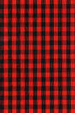 Red and black checkered fabric texture Stock Image