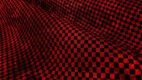 Red and black chequered grundge race flag. 3d render Stock Images