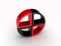 Red and black circle elements Stock Images