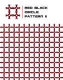 Red & Black Circle Pattern. Seamless Red & Black Circle Pattern Stock Photo