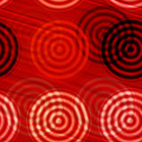 Red black circles Stock Photos