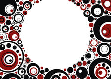 Red and black circles. Framework from red and black circles, abstraction, background, vector Royalty Free Stock Image