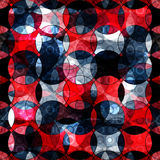 Red and black circles abstract geometric background Royalty Free Stock Images