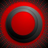 Red black circles with grunge halftone Stock Photos