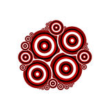 Red and black circles on white background. Good elements for use Royalty Free Stock Photos