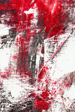 Red and black color abstract. On white background Stock Photography