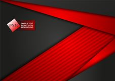 Red and black color abstract geometric technology modern design background, vector illustration. for your business.  Stock Photo