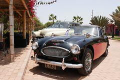 Red and black color Austin Healey 3000 MK III, Lima Stock Photography