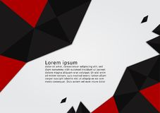 Red and Black color polygon with copy space abstract vector background. Graphic design Royalty Free Stock Photos