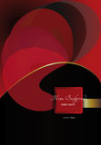 Red black composition , flowing forms Royalty Free Stock Photos