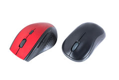 Red and black computer mouse Royalty Free Stock Photos