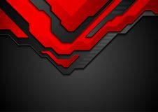 Red and black contrast abstract technology background. Vector corporate design Royalty Free Stock Image