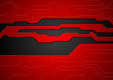 Red and black contrast tech corporate background Royalty Free Stock Photos