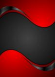 Red black contrast wavy background. Vector illustration Royalty Free Stock Photography