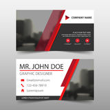 Red black corporate business card, name card template ,horizontal simple clean layout design template , Business banner template Stock Photos