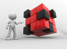 Red and black cubes Royalty Free Stock Images