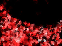 Red and Black Cubism Design Royalty Free Stock Photo