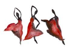 Red Black Dancing