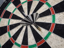 Red and black darts for the famous game Stock Image