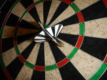 Red and black darts for the famous game Royalty Free Stock Images