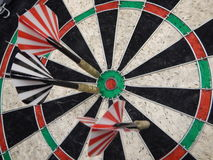 Red and black darts for the famous game Royalty Free Stock Photo