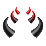 Red and black devil horns Royalty Free Stock Photography