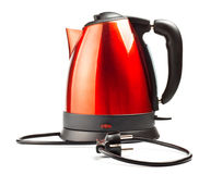 Red and black electrical tea kettle Royalty Free Stock Images