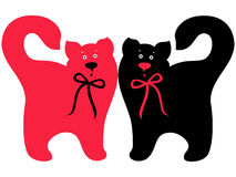 Red and black elegant cats Stock Photography