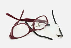 Red and black eyeglasses Stock Photos