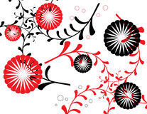 Red and Black Floral Royalty Free Stock Image