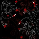 Red & Black Floral Stock Photography