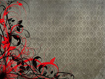 Red black Floral background Royalty Free Stock Photography